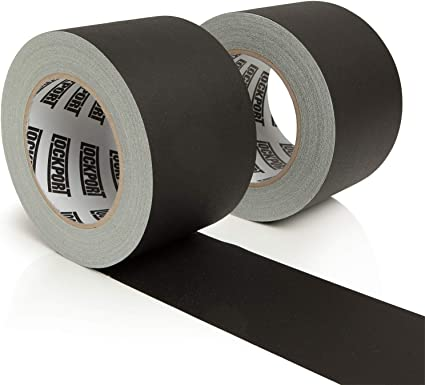"""Case of 16 Proffessional Grade Gaffers Tape Black 3/"""" x 50 yds Made in The USA"""