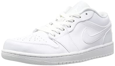 4dcd2279e82140 Jordan Nike Men s Air 1 Low White White White Basketball Shoe 10.5 Men US