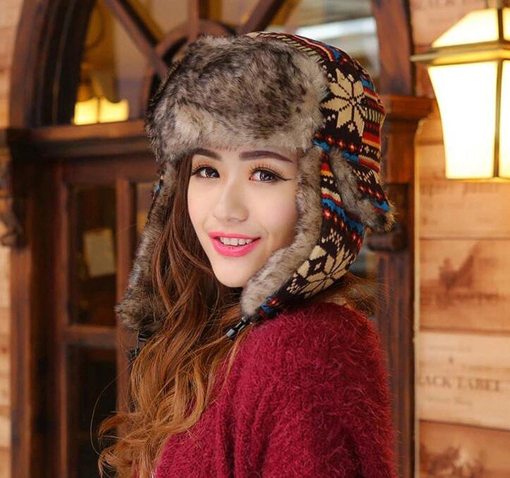 Baymate Unisex Weihnachten Winter Warmer M/ütze Hut Ohrenklappe Fliegerm/ützen K/ünstlich Pelzm/ütze