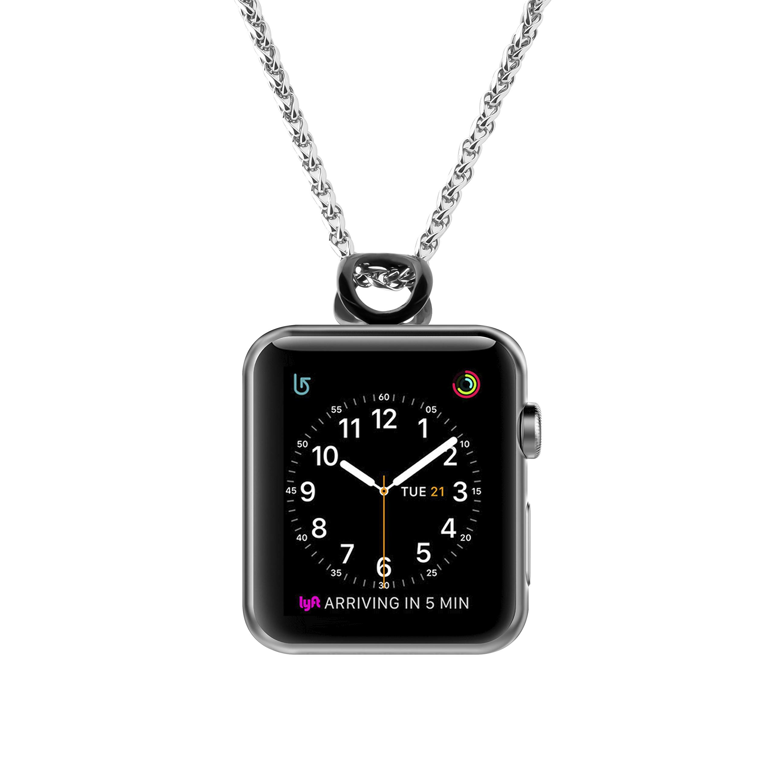 AsiaFly Necklace Pendant Compatible Apple Watch, Infinity & Double Loop Connector for Apple Watch Series 4, Series 3, Series 2, Series 1 Sport & Edition - Black 42/44mm Infinity by AsiaFly (Image #3)
