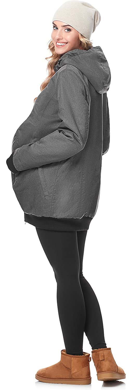 Be Mammy Chaqueta Abrigo Premam/á Panel Extra/íble Embarazo Ropa Invierno BE20-173