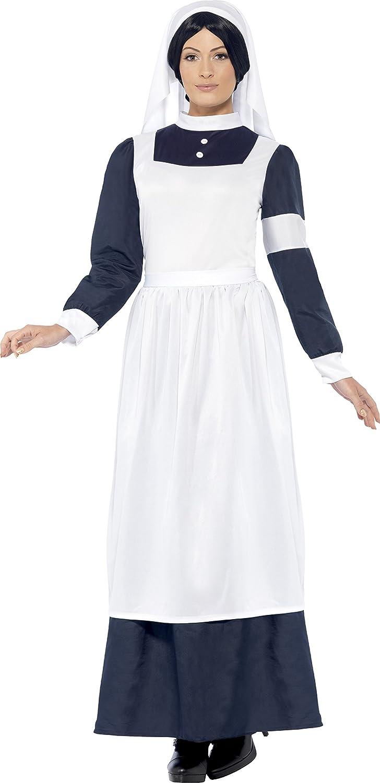 Smiffy\'s Adult Women\'s Great War Nurse Costume, Dress and Headpiece ...
