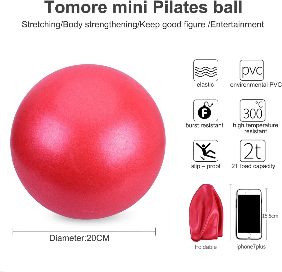 3cm Blue 10 OZUAR Mini Exercise Ball Pilates Ball for Stability Balance Fitness Gym Workout Barre Yoga Core Strength Training Physical Therapy Physical Relaxing Massage with Straw12.5