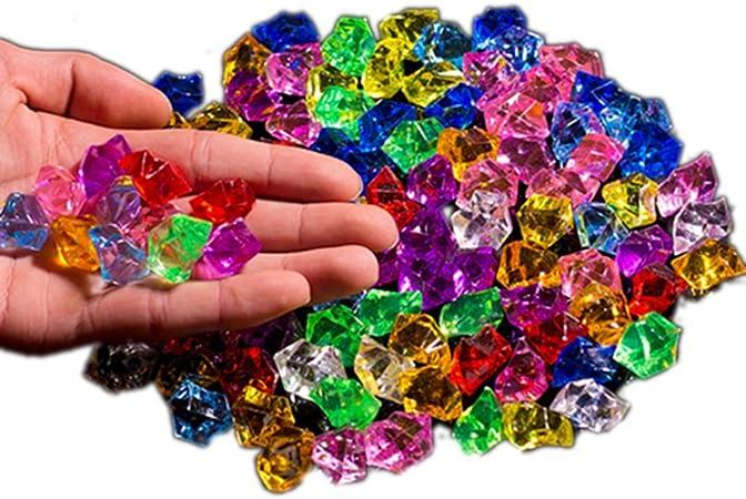 Ivie - Piedra de Cristal acrílico de Colores para Peces, acuarios, terrarios, jarrones, Plantas, decoración de jardín (200 Gramos) (Mezcla): Amazon.es: Hogar