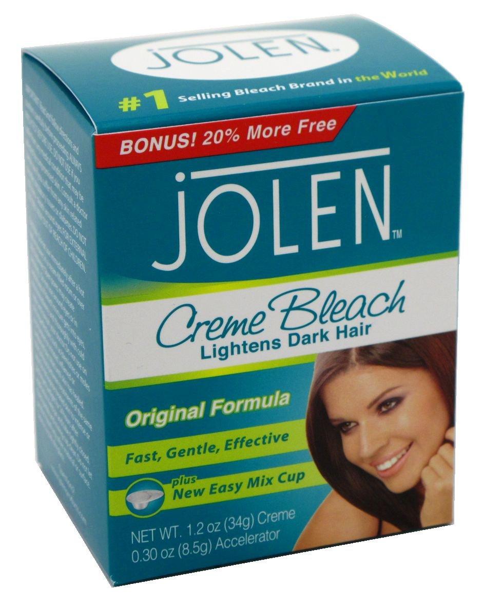 Jolen 1.2 Ounce Creme Bleach Reg Lightens Excess Dark Hair (29ml) (6 Pack)