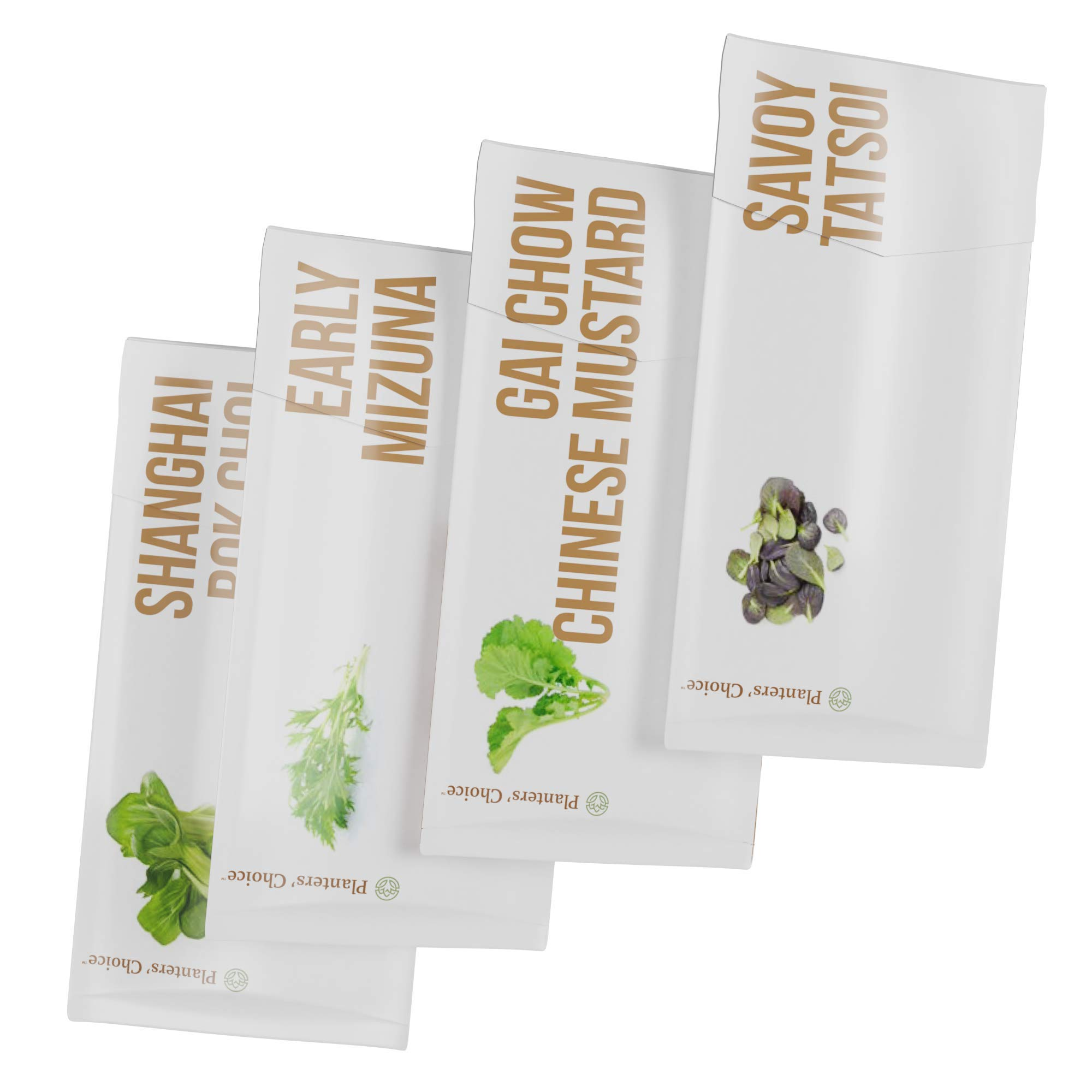 Asian Greens Growing Kit - Everything Included to Easily Grow 4 Traditional Asian Greens from Seed + Moisture Meter: Bok Choi, Mizuna, GAI Chow, Savoy Tatsoi by Planters' Choice (Image #9)