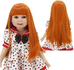 MUZI WIG Doll Hair, Heat Resistant Synthetic Hair Wigs for 18'' Doll with 10-11inch Head Doll Accessories