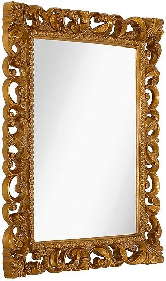 Amazoncom Hamilton Hills Antique Gold Ornate Baroque Frame Mirror