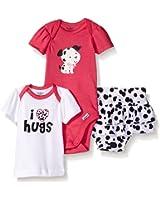 Gerber Baby Girls' 3 Piece Bodysuit, Lap-Shoulder Shirt, and Skort Set
