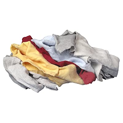Buffalo Industries (10064PB) Multicolored Recycled Sweatshirt Cloth Rags - 25 lb. bag: Automotive