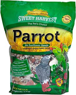 product image for Sweet Harvest Parrot Bird Food (No Sunflower Seeds), 4 lbs Bag - Seed Mix for a Variety of Parrots