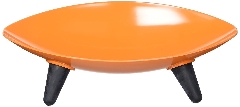 (One Size, orange) Melamine Couture Sculpture Single Dog Bowl