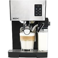 BEEM Espresso-Siebträgermaschine 1110SR - Elements of Coffee & Tea, 1450 W, 19 bar, Milchaufschäumer, Edelstahl