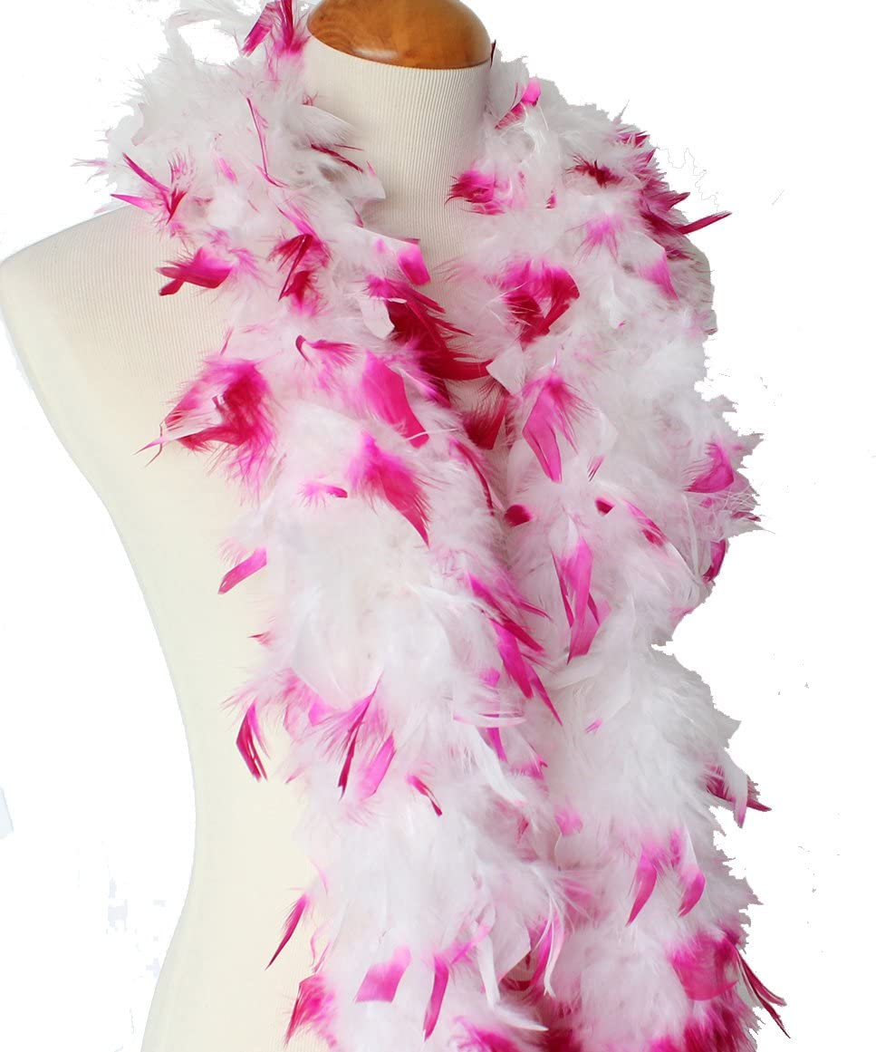6 Feet 40g Silver Fluffy Chandelle Boas Feather Boas Wedding Party Scarf