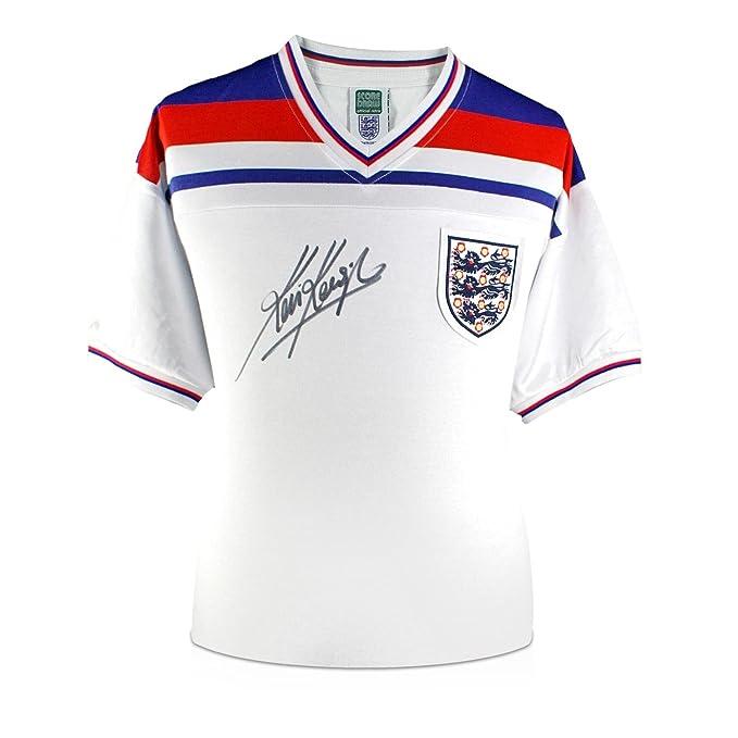 exclusivememorabilia.com Camiseta de fútbol de Inglaterra firmada por Kevin Keegan: Amazon.es: Deportes y aire libre