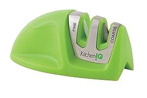 KitchenIQ 50881 Edge Grip 2-Stage Knife Sharpener, Green