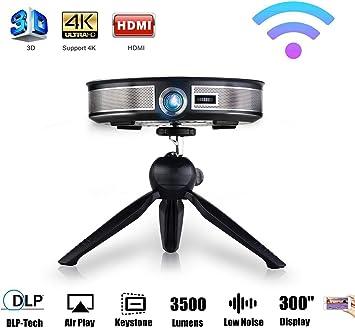 Proyector WIFI, 3500 Lumen 3D LED 300 Pulgadas HD Mini Proyector ...