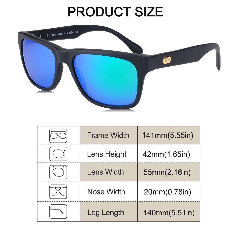 Amazon.com: avima anteojos de sol polarizadas elegante y ...