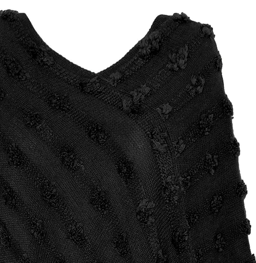 dy/_mode Damen Poncho Pullover Strickponcho mit elegantem Strick-Muster PJ023
