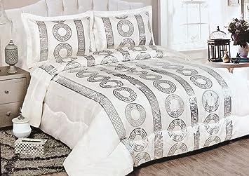 fe83c10ed21c00 Bavary Medusa Versac Tagesdecken Set 3 TLG. Elegant und Stillvoll Neuheit  und Luxus (Weiß