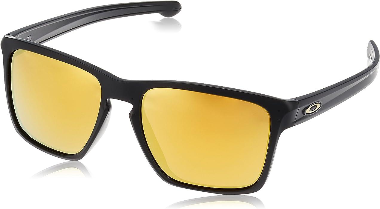 848f5a88c78d5 Oakley Men s Sliver XL (a) Non-Polarized Iridium Square Sunglasses Matte  black 57.02