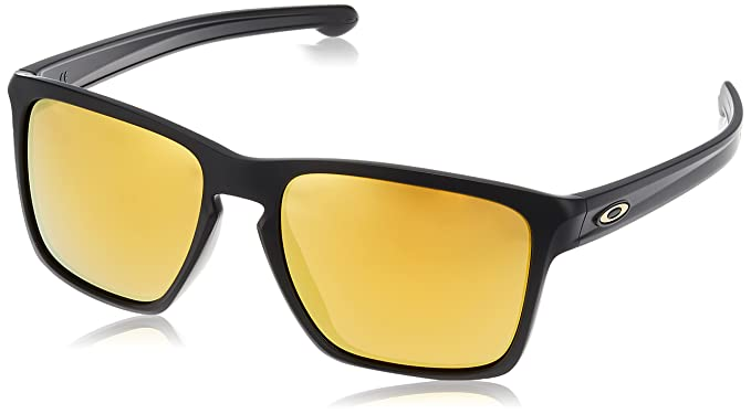 cc8c51f160 Amazon.com  Oakley Men s Sliver Sunglasses Matte Black Iridium  Clothing