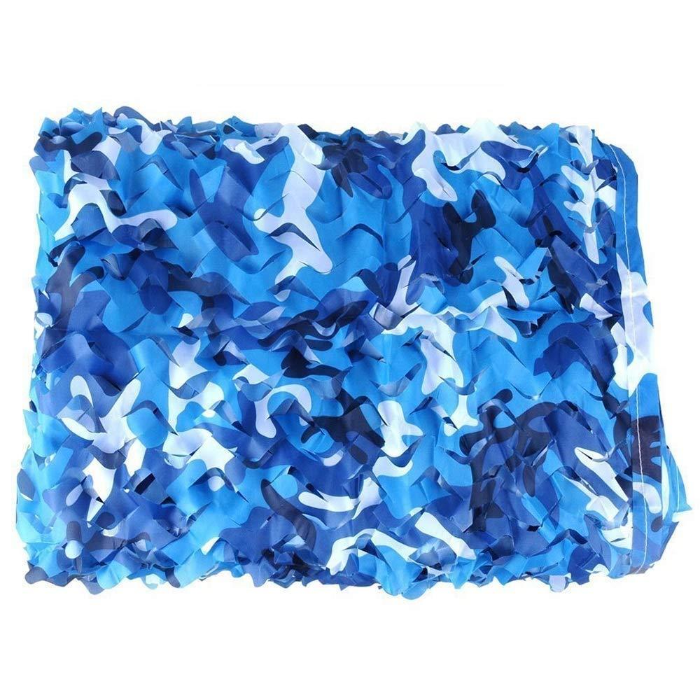2x6m Filet de camouflage parasol multi-usage Le filet de camouflage bleu océan peut être utilisé pour décorer la plage au bord de la mer. Photographie aérienne anti-contrefaçon (taille  2x3M) BÂche AI LI W