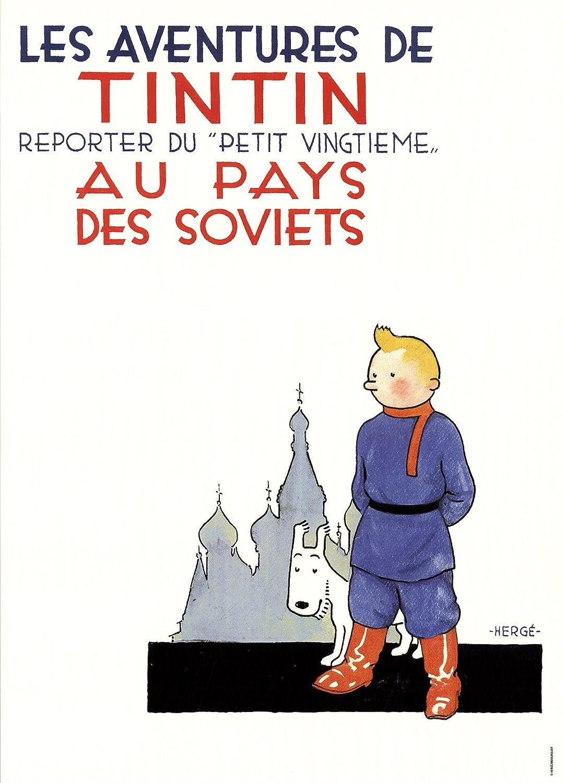Tintin au pays des soviets 22230 Poster Moulinsart Album de Tintin 70x50cm