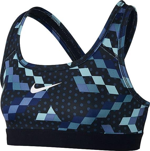 Nike G NP Bra Classic AOP Rel Sujetador Deportivo, Niñas, Azul ...
