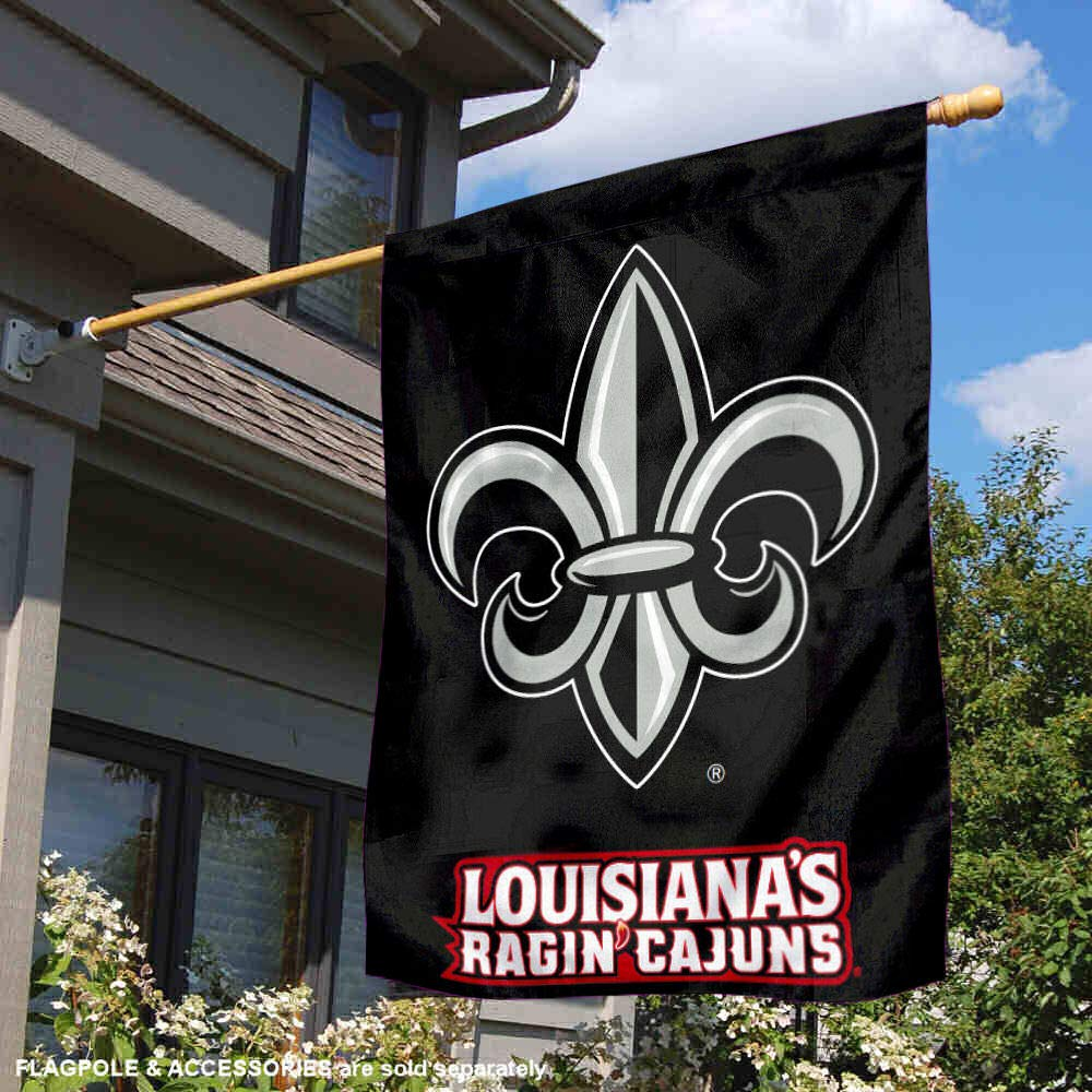 University of Louisiana at Lafayette ULL Ragin Cajuns House Flag College Flags and Banners Co