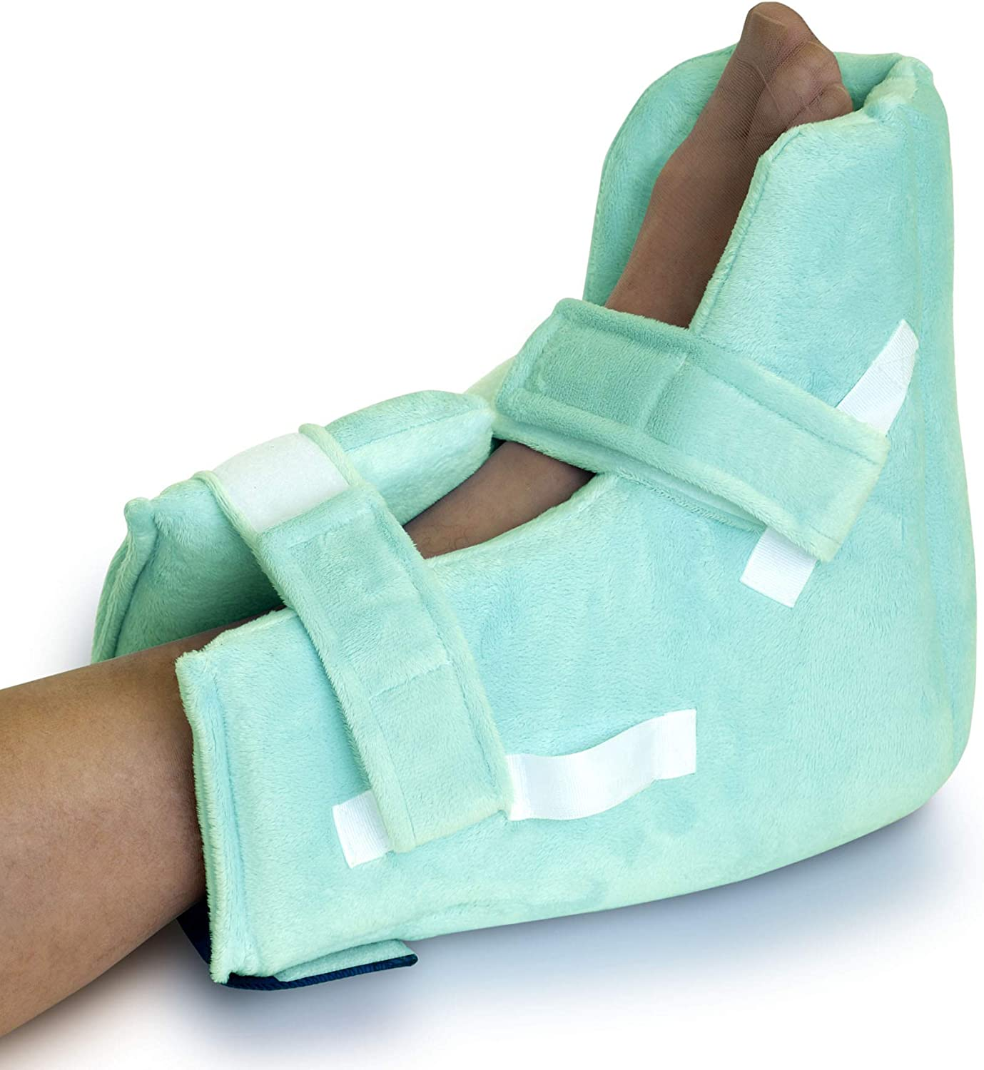 NYOrtho Boot Heel ProtectorCushion -Pressure Relieving Pillow Boot with Suspension Boot Antimicrobial Fabric Zero-G Boot™| Free Removable Heating/Cooling Gel Pack Included| Bariatric