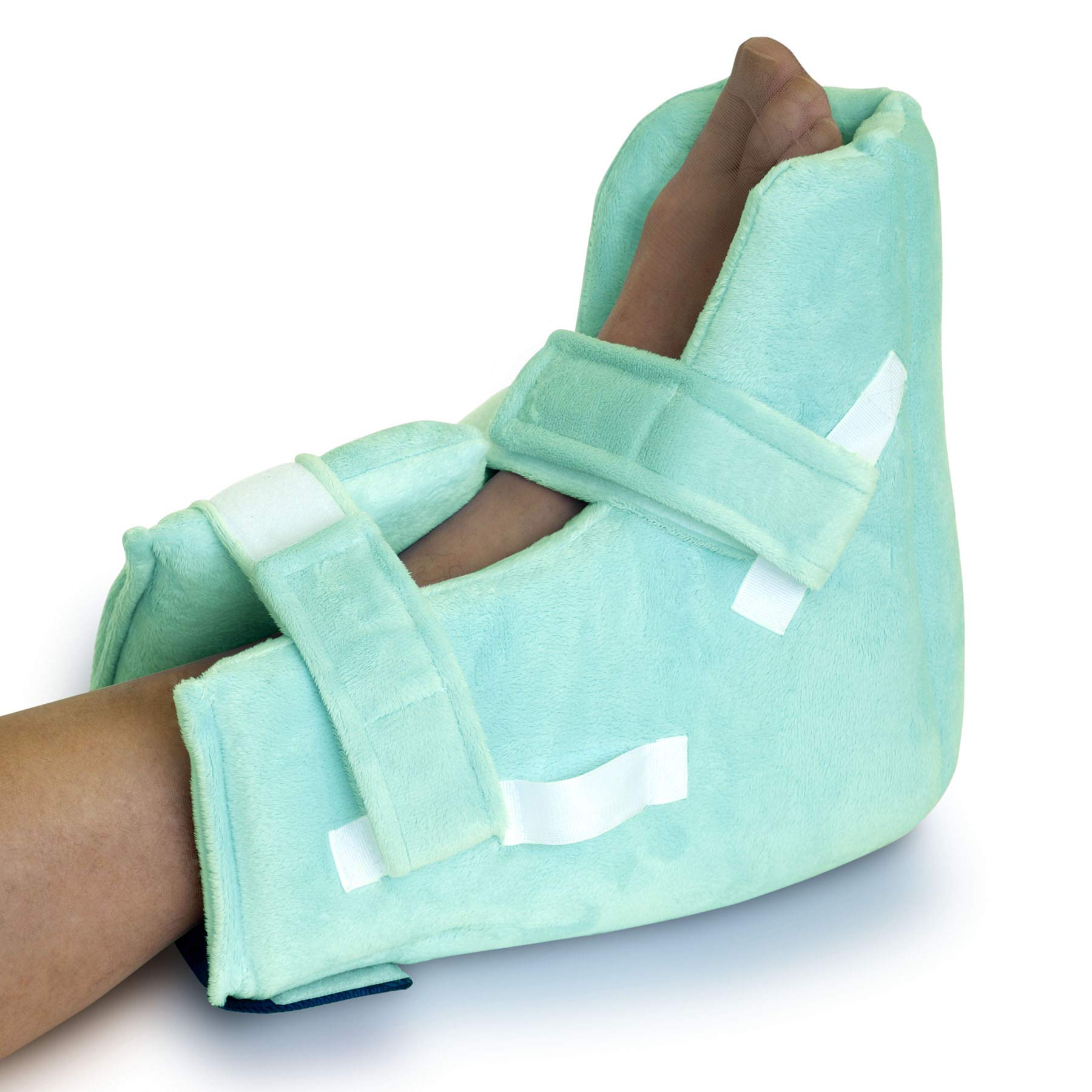 NYOrtho Boot Heel Protector Cushion - Pressure Relieving Pillow Boots with Suspension Boot Antimicrobial Fabric | Free Removable Heating/Cooling Gel Pack Included | Average Adult by NYORTHO