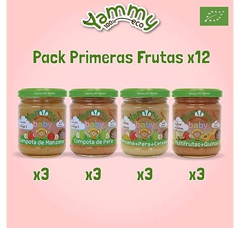 Yammy Primeras Frutas - Pack de 12 Potitos Ecológicos para Bebés, 2340 g: Amazon.es: Alimentación y bebidas
