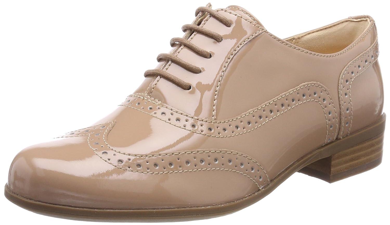 Clarks Hamble Oak, Zapatos de Cordones Brogue para Mujer 41 EU|Beige (Nude Patent)