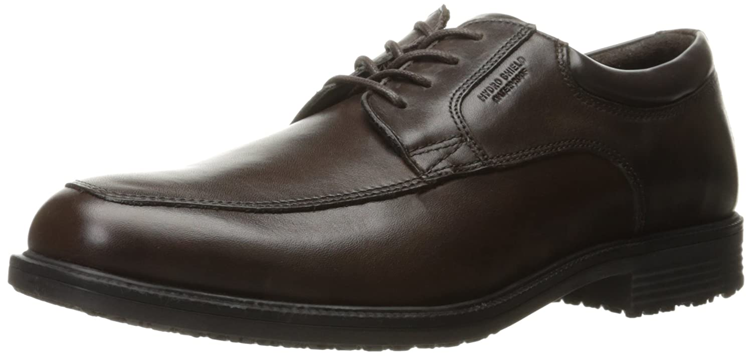 Rockport Mens Waterproof Lead The Pack Apron-Toe Oxford  85 D(M) US|Chocolate Antique