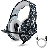 ONIKUMA PS4 Gaming Headset with Mic for PC Mac Laptop New Xbox one Nintendo DS PSP Surround Stereo Sound Noise Reduction One Key Mute