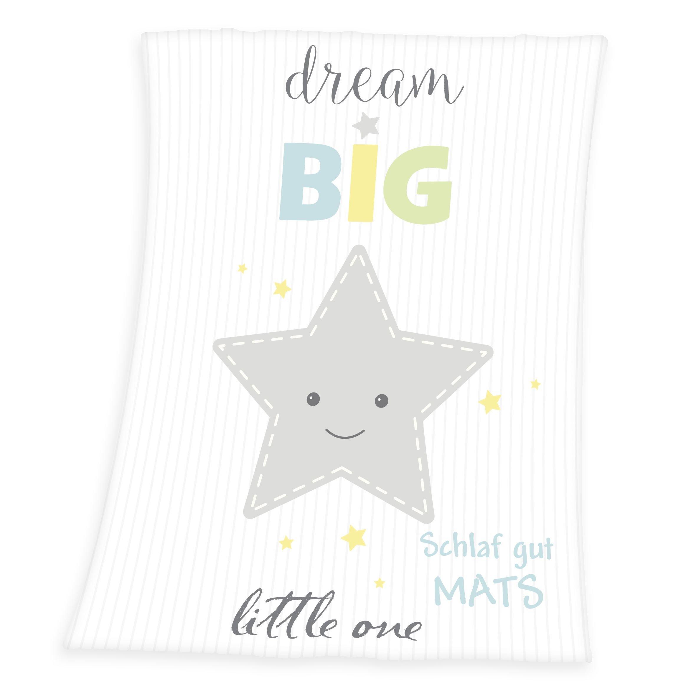 280e982390 Wolimbo Flausch Babydecke mit Ihrem Wunsch-Namen und Stern Motiv -  personalisierte/individuelle Geschenke
