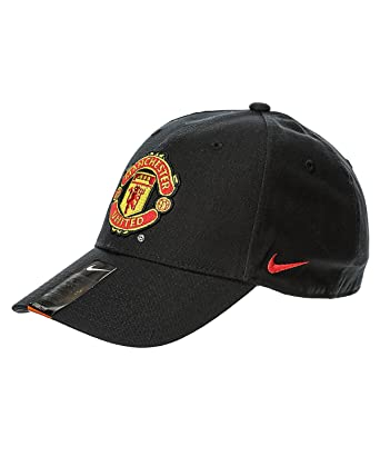 best service fe57a d62f6 ... italy nike manchester united manu core adjustable hat black gold red  619317 010 90deb ae5bb