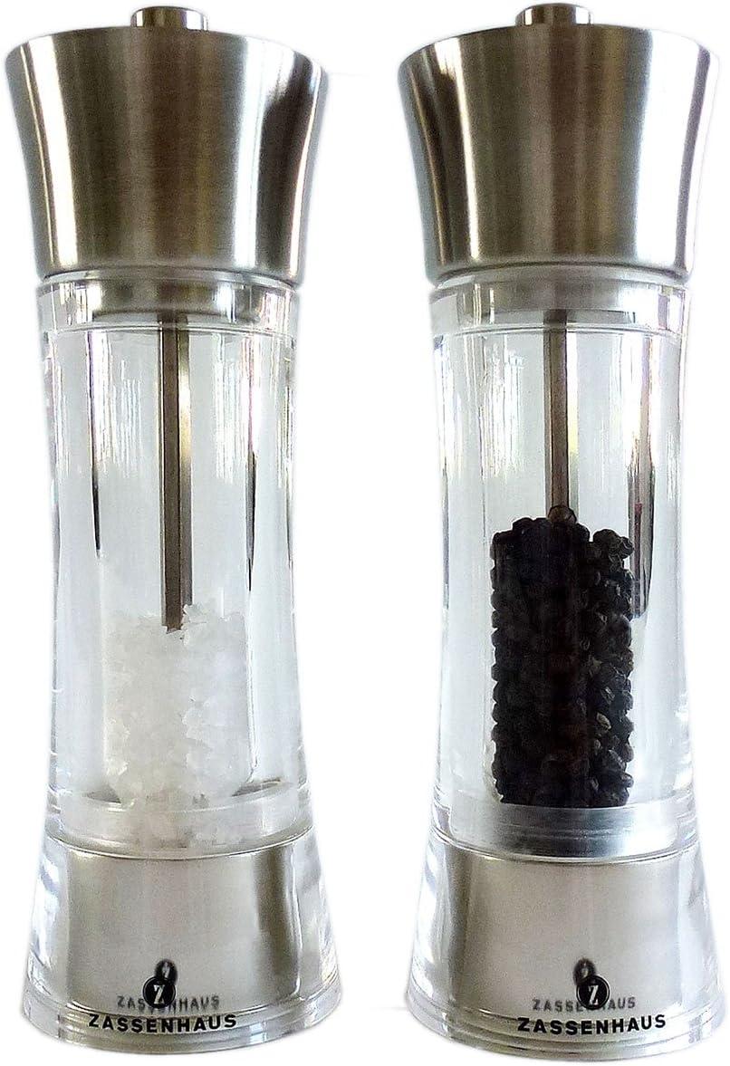 Zassenhaus Pepper + Salt Mill 7.0-inch