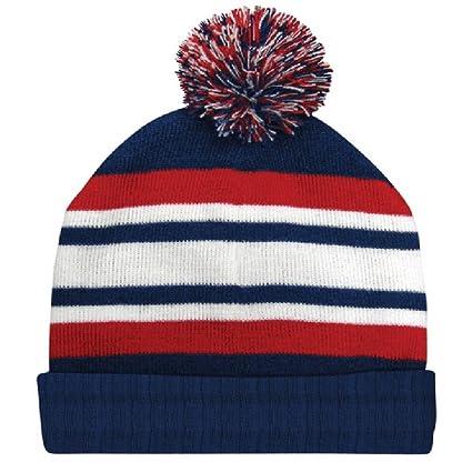 Amazon.com  Dakota Dan Red White Blue Pom Cuff Beanie Winter Watch Cap   Sports   Outdoors e3e8f6756bb