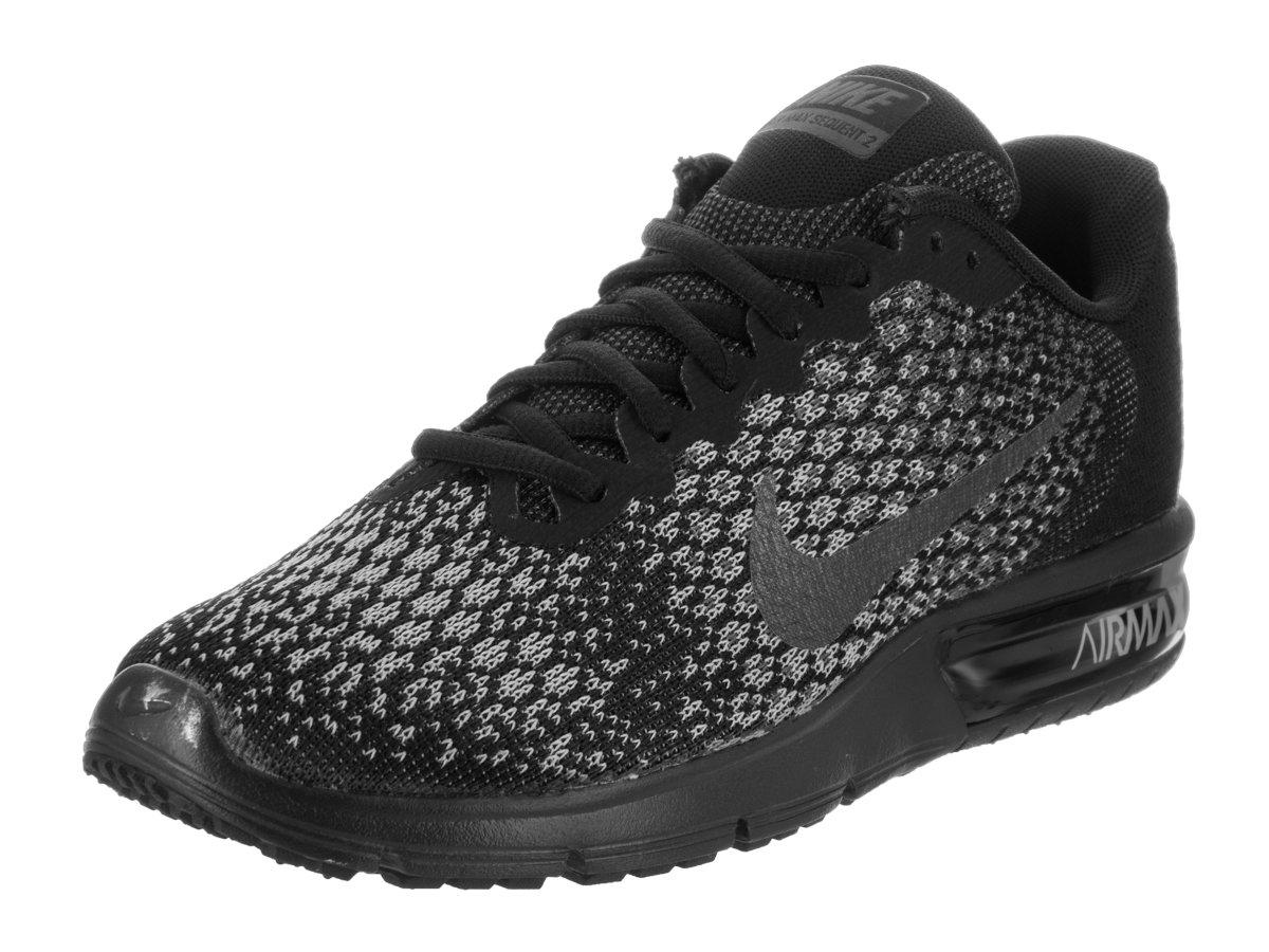 100% genuino Nike Donne Air Max Sequent 2 Scarpe da corsa Nero Mtlc Dk Grigio Wolf Grigio