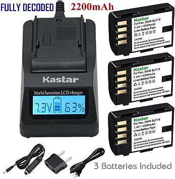 Batería CARGADOR para Panasonic Lumix dmc-gh4 dmc-gh3h dmw-blf19