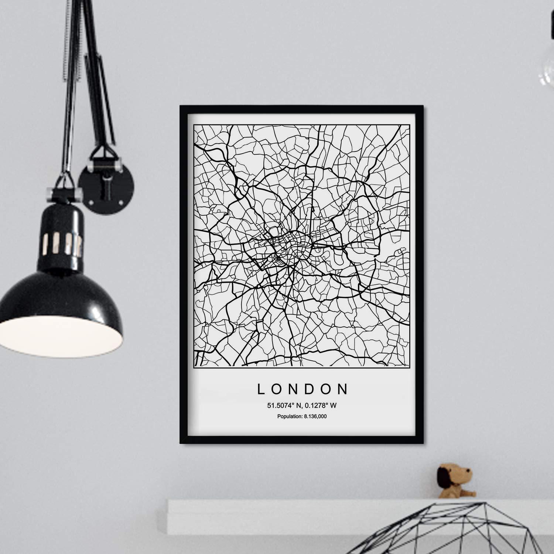 Nacnic Prints London City Map Nordic Style   Set of 20 20g Paper ...