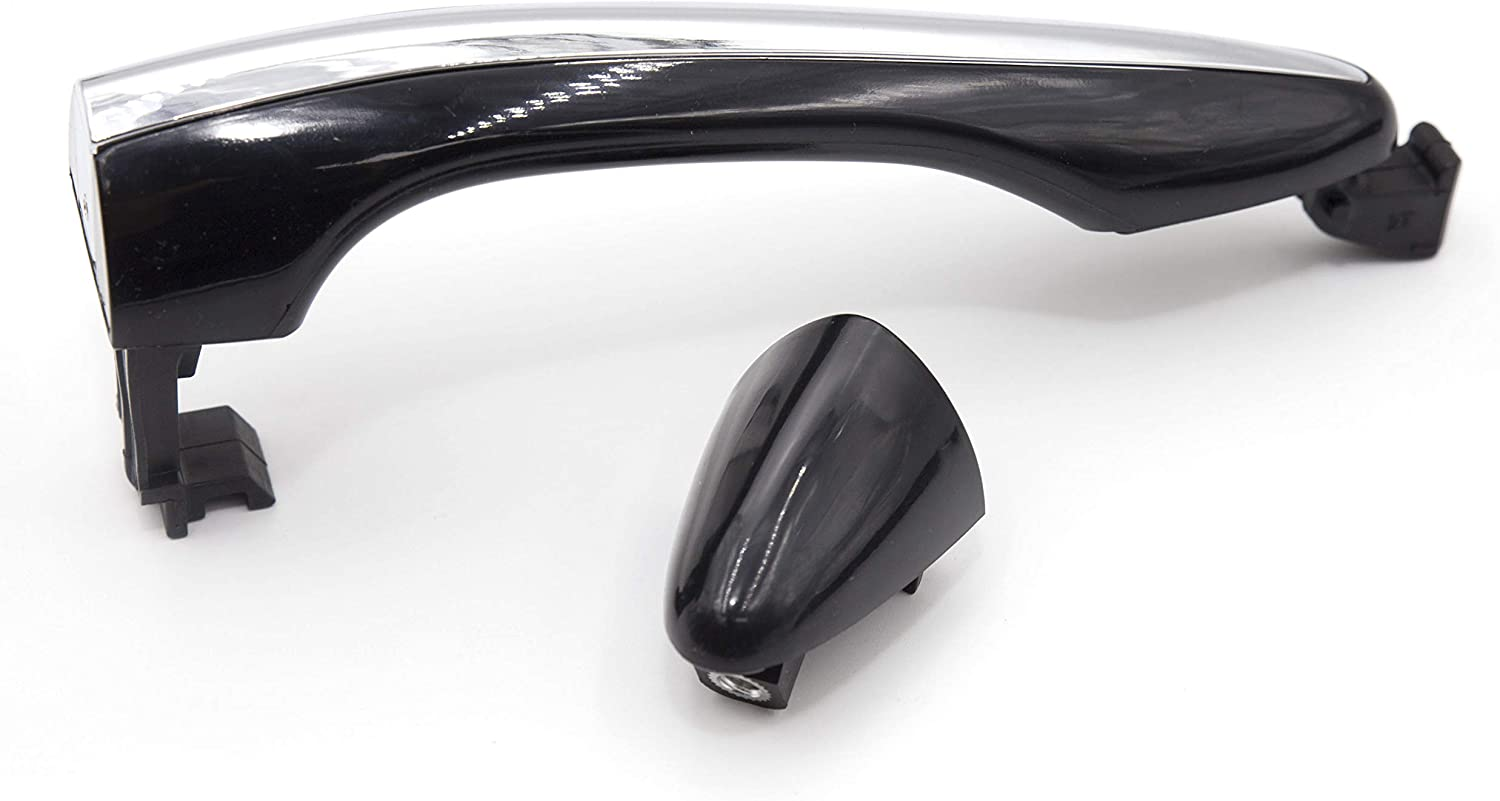 Hybrid 2011-2015 Black//Chrome Exterior Door Handle Front Right Side Master Tailgaters Replacement for Kia Optima 2011