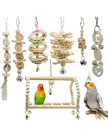 Wood Colorful Bird Parrot Toys Hanging Toy for Parakeets Cockatiels Small Pet Yellow Rubyyouhe8 Bird Accessories/&Pet Bird Parrot Wooden Table Stand Perch Cage Decor Gym Playground Play Toy