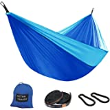 Active Roots Camping Hammock – Lightweight Portable Parachute Nylon Hammock for Backpacking, Travel, Beach, Yard Hammock Gear (Tree Straps and Carabiners) Included!