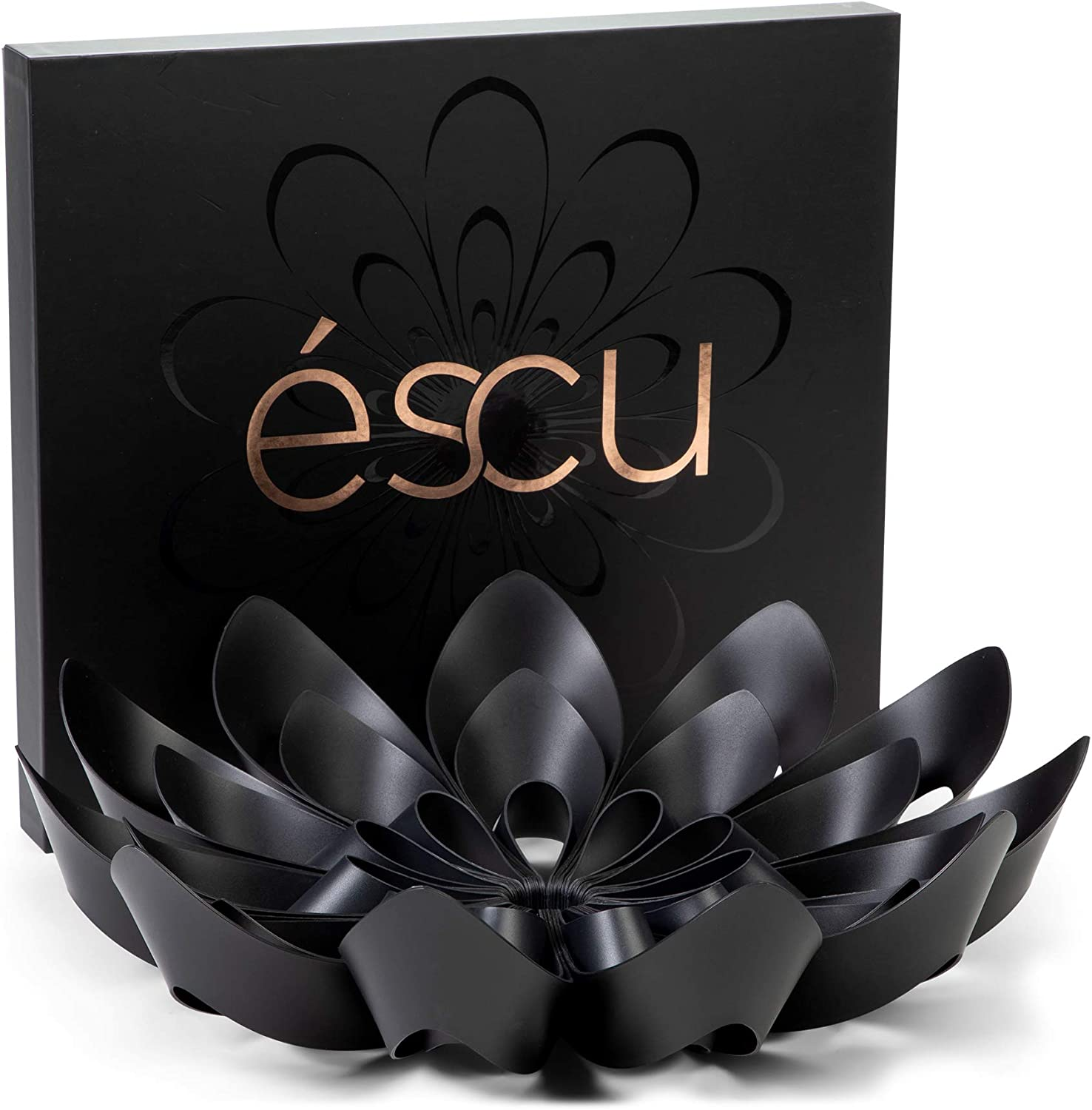 "éscu Modern Fruit Bowl for Kitchen Table and Countertop Decor - Black, 15"" Diameter - Large Decorative Snack Bowls 71iIbi2VIoL"