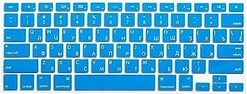 Para Mac Book 13 15 Us versión Laptop Skin Cubre letras rusas ...