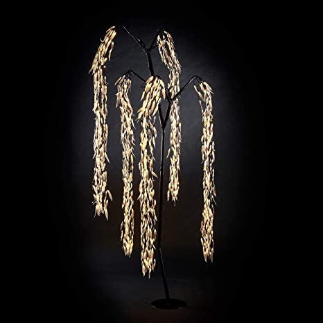 810 LED Lights Winter Workshop 7ft Willow Christmas Tree Warm White