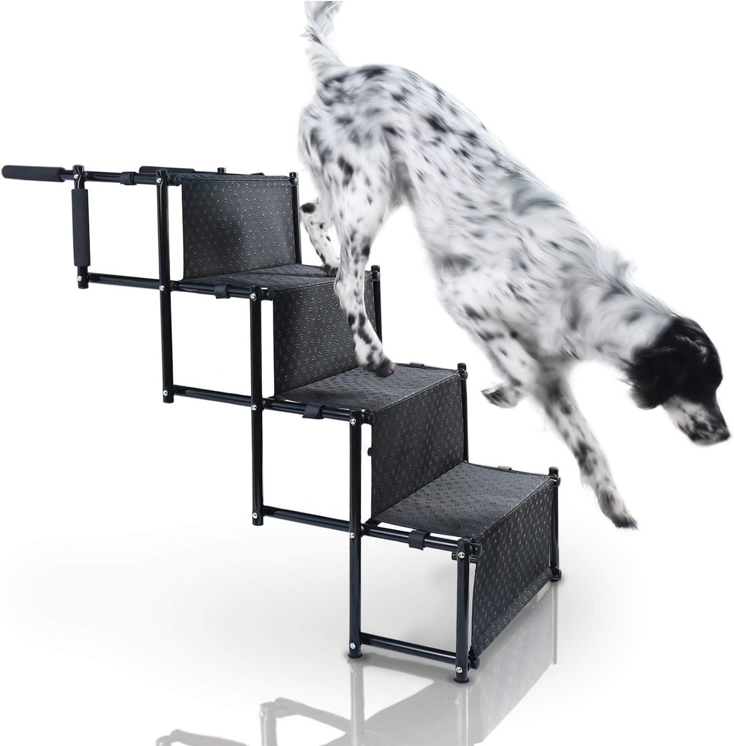 Bella & Balu Rampa para Perros Plegable – Escalera de Perro para Ayudar en la Entrada y Salida del Coche.